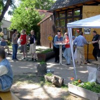 Himmelfahrt in der Pfarrscheune 2003