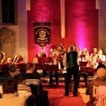 Schenkenberger Blasmusikverein in der Kirche 2015